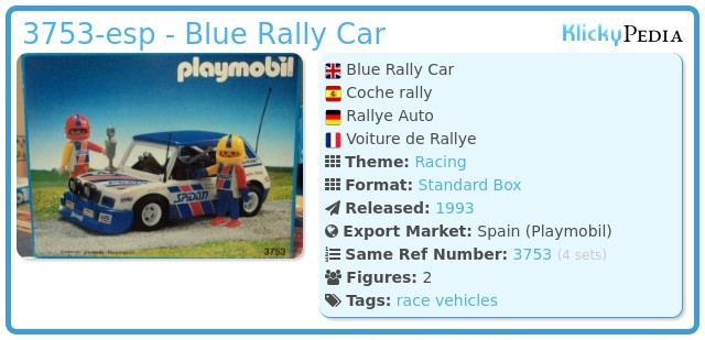 Playmobil 3753-esp - Blue Rally Car