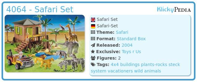 Playmobil 4064 - Safari Set