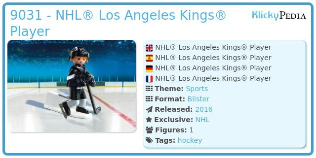 Playmobil 9031 - NHL® Los Angeles Kings® Player