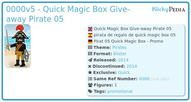 Playmobil 0000v5 - Quick Magic Box Give-away Pirate 05
