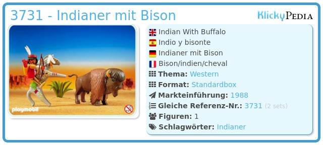 Playmobil 3731 - Indianer mit Bison