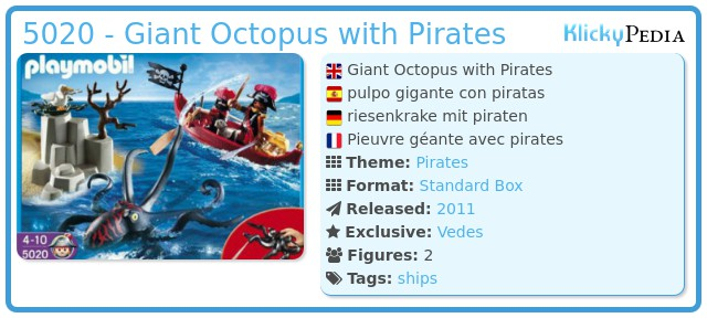 Playmobil 5020 - Giant Octopus with Pirates