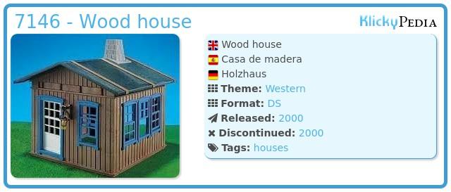Playmobil 7146 - Wood house