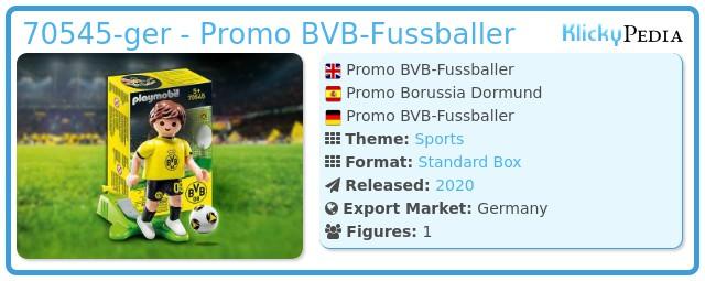 Playmobil 70545-ger - Promo BVB-Fussballer