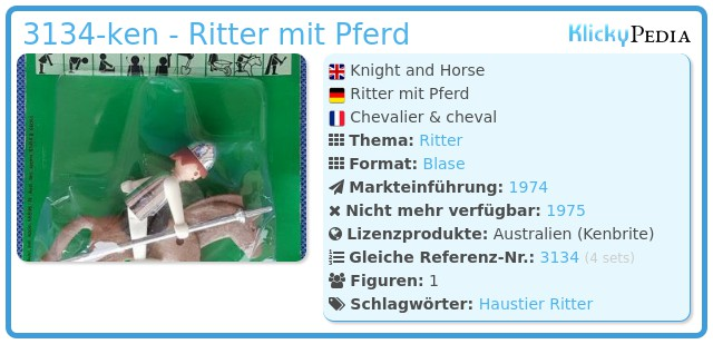 Playmobil 3134-ken - Ritter mit Pferd