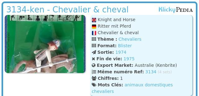 Playmobil 3134-ken - Chevalier & cheval