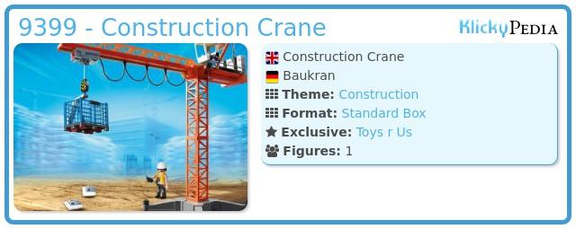Playmobil 9399 - Construction Crane