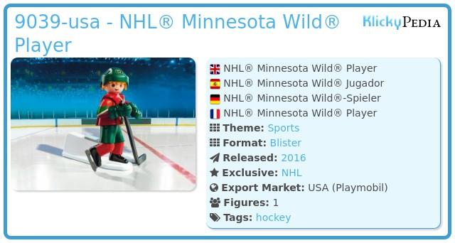 Playmobil 9039-usa - NHL® Minnesota Wild® Player