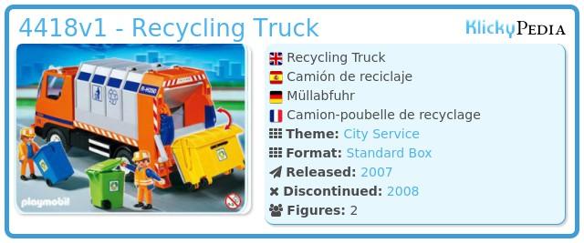 Playmobil 4418 - Recycling Truck