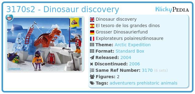 Playmobil 3170s2 - Dinosaur discovery