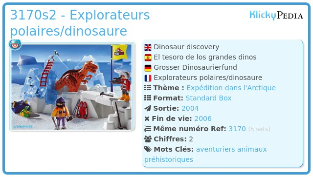 Playmobil 3170s2 - Explorateurs polaires/dinosaure