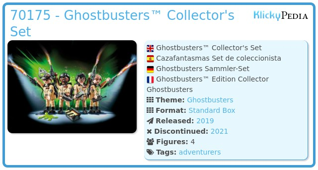 Playmobil 70175 - Ghostbusters™ Collector's Set