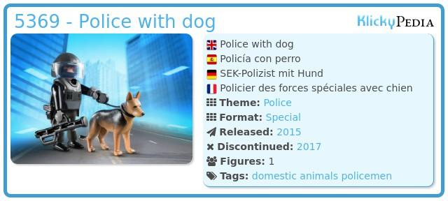 Playmobil 5369 - Police with dog