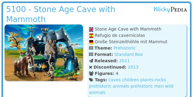 Playmobil 5100 - Stone Age Cave with Mammoth