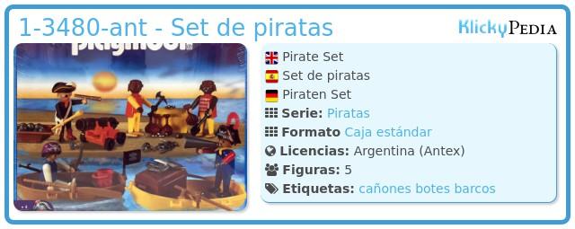 Playmobil 1-3480-ant - Set de piratas
