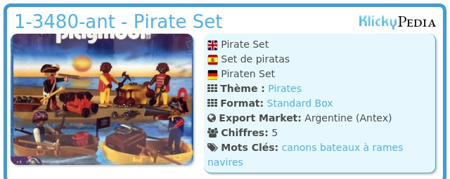 Playmobil 1-3480-ant - Pirate Set