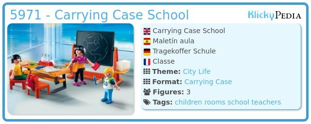 Playmobil 5971 - Carrying Case School