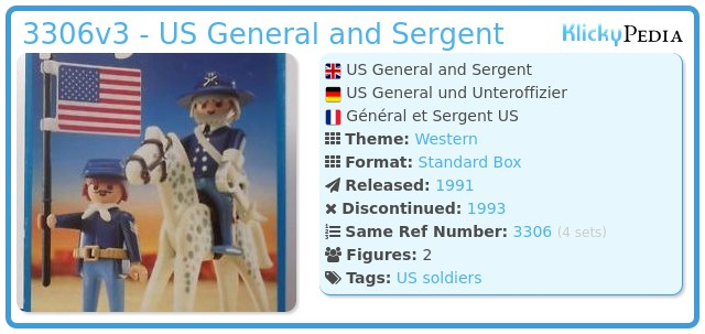Playmobil 3306v3 - US General and Sergent