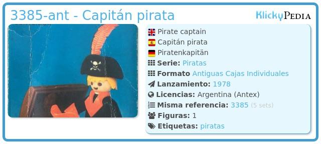 Playmobil 3385-ant - Capitán pirata