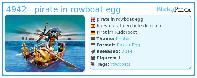 Playmobil 4942 - pirate in rowboat egg