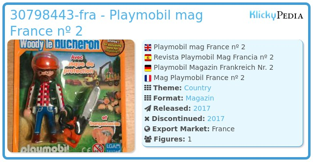 Playmobil 30798443-fra - Playmobil mag France nº 2