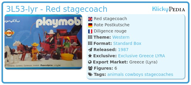 Playmobil 3L53-lyr - Red stagecoach