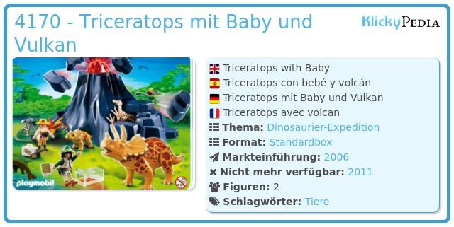 Playmobil 4170 - Triceratops mit Baby und Vulkan