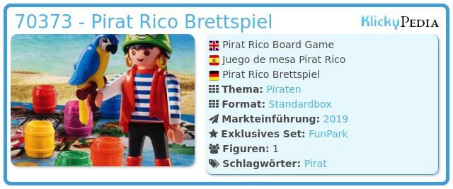 Playmobil 70373 - Pirat Rico Brettspiel
