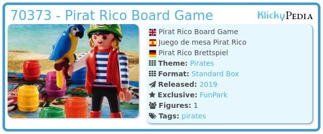 Playmobil 70373 - Pirat Rico Board Game
