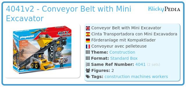 Playmobil 4041v2 - Conveyor Belt with Mini Excavator