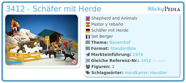 Playmobil 3412 - Schäfer mit Herde