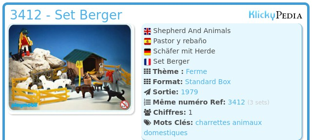 Playmobil 3412 - Set Berger