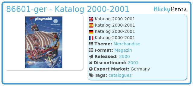 Playmobil 86601-ger - Katalog 2000-2001