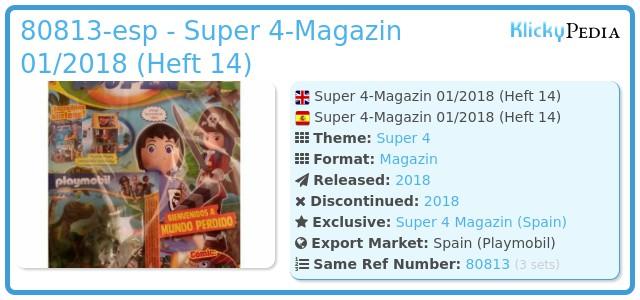 Playmobil 80813-esp - Super 4-Magazin 01/2018 (Heft 14)
