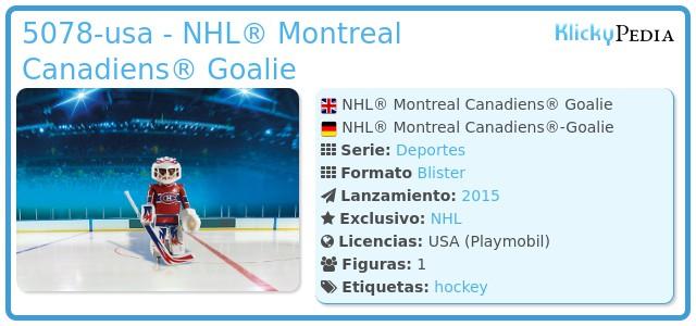 Playmobil 5078-usa - NHL® Montreal Canadiens® Goalie