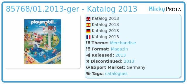Playmobil 85768/01.2013-ger - Katalog 2013