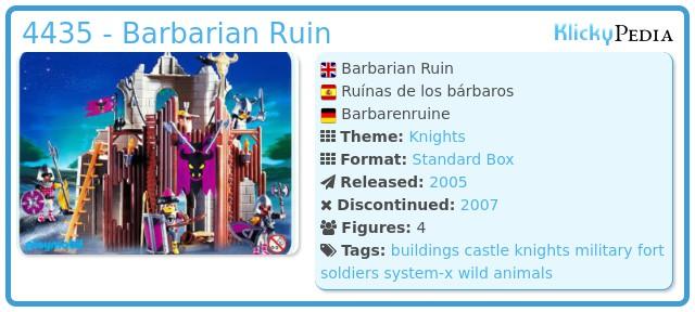Playmobil 4435 - Barbarian Ruin