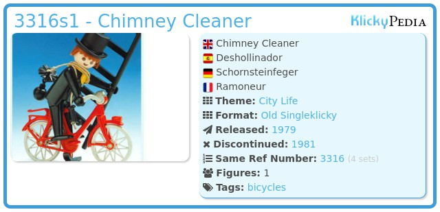 Playmobil 3316s1 - Chimney Cleaner