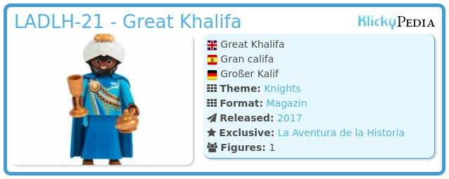 Playmobil LADLH-21 - Great Khalifa