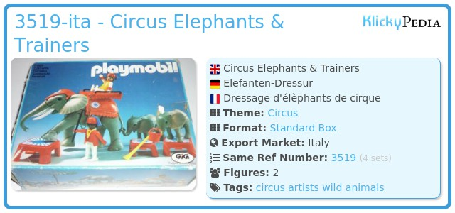 Playmobil 3519-ita - Circus Elephants & Trainers