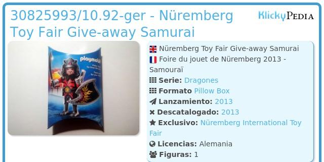 Playmobil 30825993/10.92-ger - Nüremberg Toy Fair Give-away Samurai