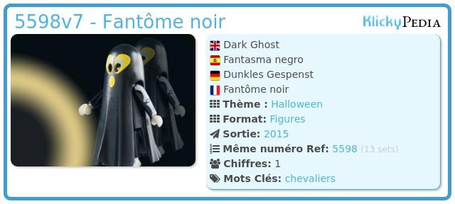 Playmobil 5598v7 - Fantôme noir