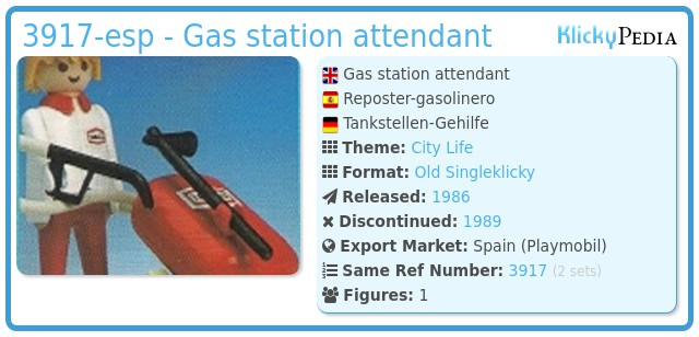 Playmobil 3917-esp - Gas station attendant