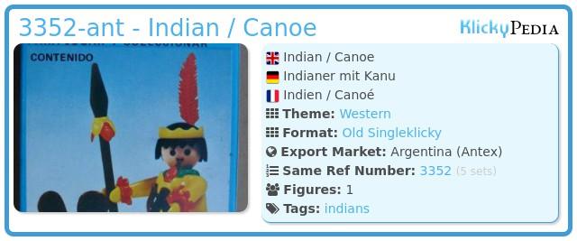 Playmobil 3352-ant - Indian / Canoe