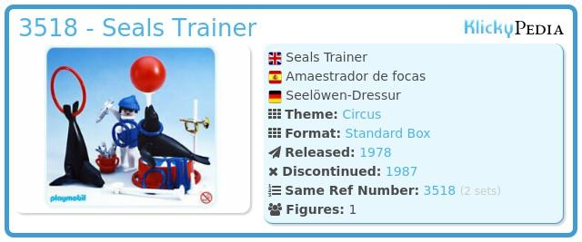Playmobil 3518 - Seals Trainer