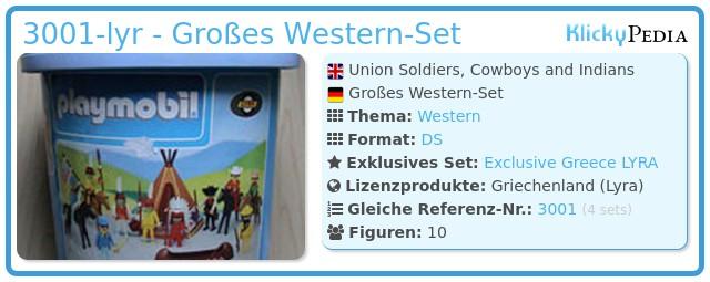 Playmobil 3001-lyr - Großes Western Set