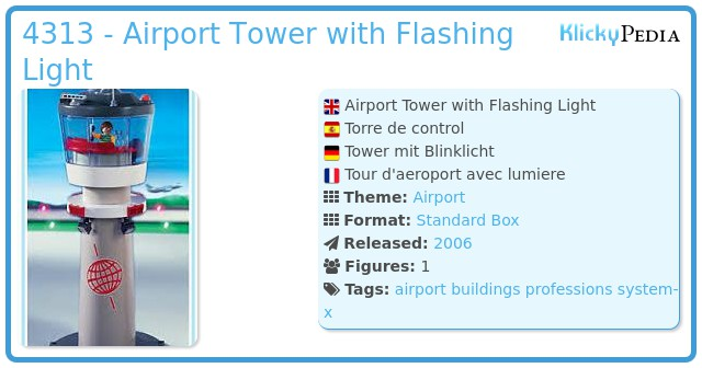 Playmobil 4313 - Airport Tower with Flashing Light