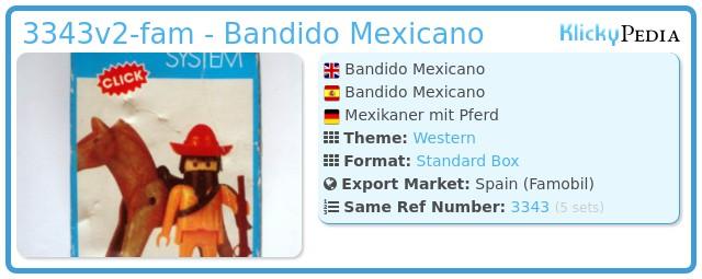 Playmobil 3343v2-fam - Bandido Mexicano