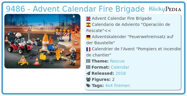 Playmobil 9486 - Advent Calendar Fire Brigade