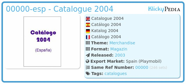 Playmobil 00000-esp - Catalogue 2004